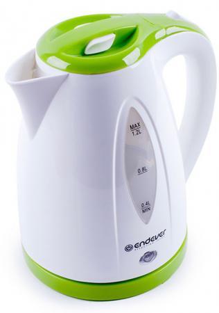 Чайник ENDEVER 361-KR 2100 Вт белый зелёный 1.2 л пластик endever kr 306g