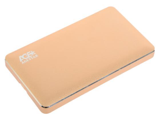 Внешний контейнер для HDD 2.5 SATA AgeStar 3UB2A16C USB3.0 type-C алюминий золотистый шейкер be first 350ml lime green ts 1349 gre