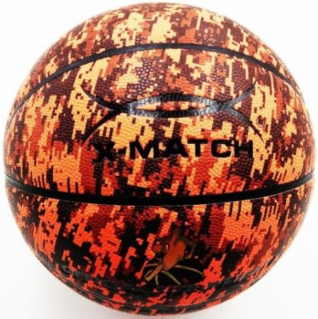 Мяч баскетбольный X-Match ламинированный PU, размер 7 56393 x match настольная игра хоккей x match 87909