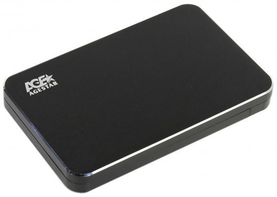 Внешний контейнер для HDD 2.5 SATA AgeStar 3UB2A18C USB3.0 type-C алюминий черный внешний контейнер для hdd 2 5 sata agestar subcp1 usb2 0 белый
