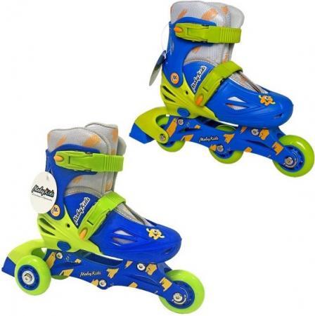 Коньки роликовые 2в1 Moby Kids пласт.осн.,р.30-33 641004 роликовые коньки moby kids р 34 37 сине зеленый 641021
