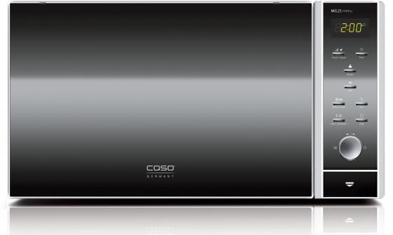 Микроволновая печь CASO MG25 Menu 900 Вт чёрный серебристый