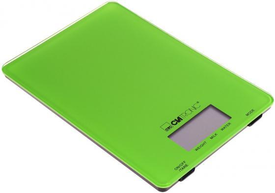 Весы кухонные Clatronic KW 3626 зелёный сэндвичница clatronic st wa 3490
