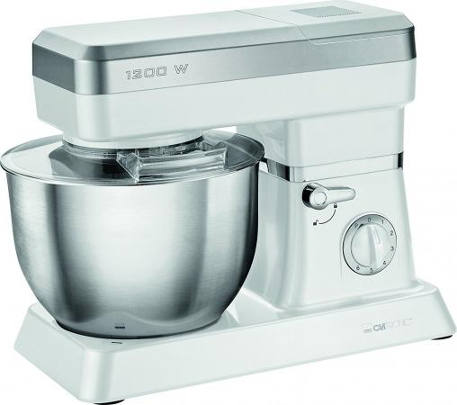 Кухонный комбайн Clatronic KM 3636 белый и серебристый кухонный комбайн kenwood fdm 100 ba 500вт 0 5л серебристый