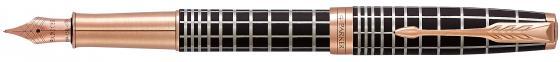 Перьевая ручка Parker Sonnet Premium F531 Masculine перо F 1931480 ручка перьевая parker sonnet f533 subtle big red перо f черный 1930487