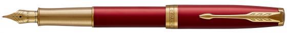 Перьевая ручка Parker Sonnet Core F539 перо М 1931478 ручка перьевая parker sonnet f531 s0912390 dark grey laquer ct f перо золото 18k подар кор