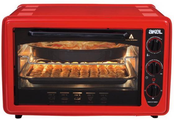 Мини-печь Akel AF-730 красный мини печь akel af 730 белый