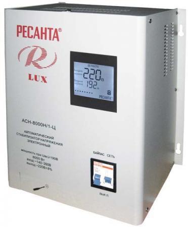 Стабилизатор напряжения Ресанта ACH-8000Н/1-Ц Lux сварочный полуавтомат ресанта саипа135