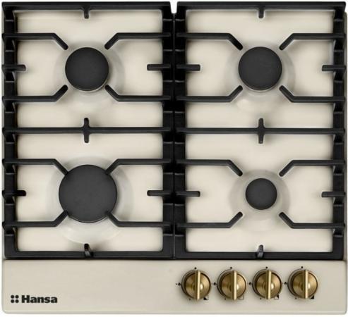Варочная панель газовая Hansa BHGY61059 бежевый газовая варочная панель hansa bhgw63030 bhgw63030