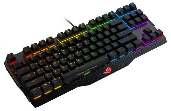 все цены на Клавиатура проводная ASUS M802 CLAYMORE CORE/BK/RU USB черный онлайн