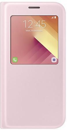 все цены на Чехол Samsung EF-CA720PPEGRU для Samsung Galaxy A7 2017 S View Standing Cover розовый онлайн