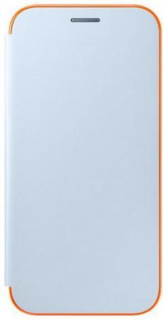 Чехол Samsung EF-FA520PLEGRU для Samsung Galaxy A5 2017 Neon Flip Cover синий чехол для samsung galaxy a5 2017 samsung ef fa520 neon flip cover gold