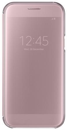 Чехол Samsung EF-ZA520CPEGRU для Samsung Galaxy A5 2017 Clear View Cover розовый аксессуар чехол samsung galaxy a5 2017 clear cover transparent ef qa520ttegru