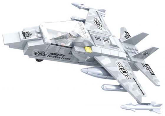 """Конструктор Ausini """"Армия"""" - Самолет 126 элементов 22402 ausini игрушка пластмассовая конструктор военные 126 деталей ausini"""