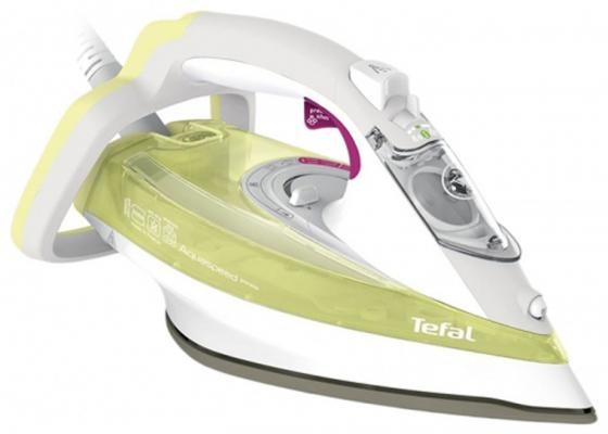 Утюг Tefal FV5510E0 2500Вт зелёный белый утюг tefal fv5510e0 2500вт зелёный белый