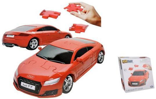 Пазл 3D HAPPY WELL 1:43 Audi TT Coupe Coupe Non Assemble 57122 модель автомобиля 1 18 motormax audi tt coupe