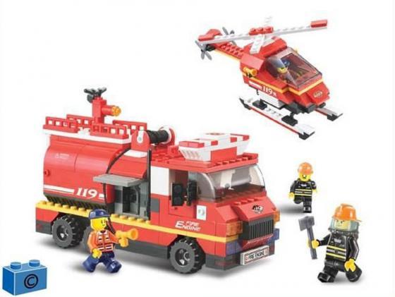 Конструктор SLUBAN Пожарная служба 409 элементов M38-B0222 sluban m38 b0287