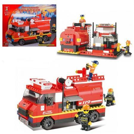 Конструктор SLUBAN Пожарные спасатели - Машина 281 элемент M38-B0220