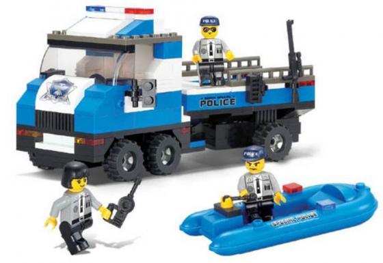 Конструктор SLUBAN Полицейский спецназ - Береговая полиция 202 элемента M38-B0186 конструкторы sluban box военный спецназ m38 b0206r 273 элемента
