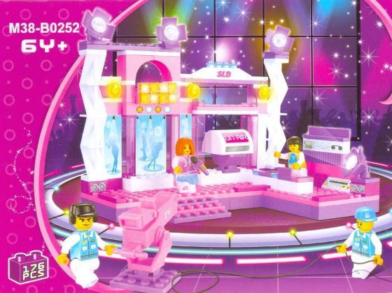 Конструктор SLUBAN Розовая мечта - Сцена с певицей в розовом 176 элементов M38-B0252 tms320f28335 tms320f28335ptpq lqfp 176