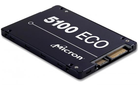 Твердотельный накопитель SSD 2.5 480Gb Crucial Micron 5100ECO Read 540Mb/s Write 520Mb/s SATAIII MTFDDAK480TBY-1AR1ZABYY твердотельный накопитель ssd 2 5 512gb plextor s2 read 520mb s write 480mb s sataiii px 512s2c