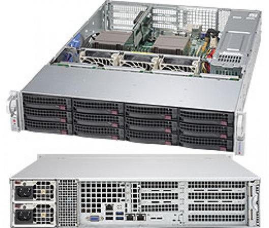Серверная платформа Supermicro SYS-6028R-T + 2 SNK-P0048PS цена