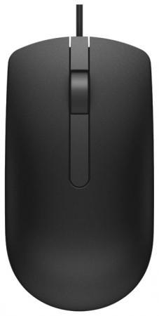 Мышь проводная DELL MS116 чёрный USB цена
