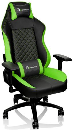 цена на Кресло компьютерное игровое Thermaltake GT Comfort C500 черно-зеленый GC-GTC-BGLFDL-01