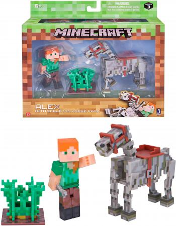 Игровой набор Minecraft Алекс с скелетом лошади 6 предметов Т59993 free shipping deli 0451 candy color stitching machine set mini stapler belt clip staples attached manual mini stapler