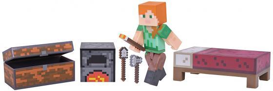 цена на Игровой набор Minecraft Майнкрафт - Алекс с набором для выживания 4 предмета Т59992