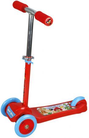 Самокат трехколёсный 1TOY Angry Birds 5/4 красный Т57625