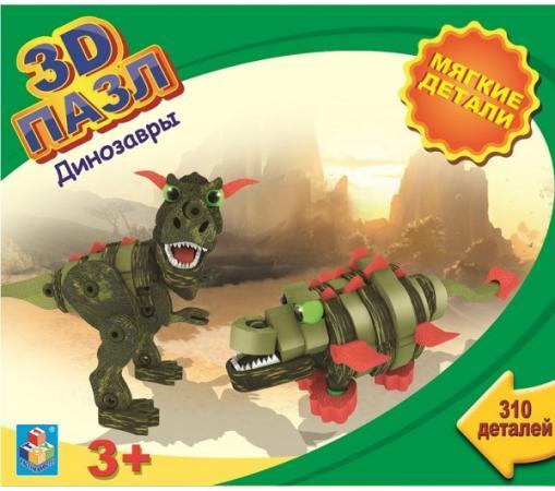 Пазл 3D 310 элементов 1toy Динозавры 3d пазл птеранодон pandapuzzle