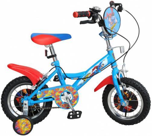 Велосипед двухколёсный Navigator Супермен 12 голубой ВН12100 велосипед двухколёсный navigator миньоны 18 желтый вн18074