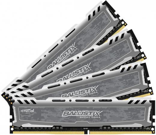 Оперативная память 32Gb (4x8Gb) PC4-19200 2400MHz DDR4 DIMM Crucial BLS4C8G4D240FSBK