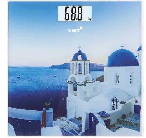 купить Весы напольные Unit UBS-2055 рисунок синий CE-0462768 по цене 770 рублей