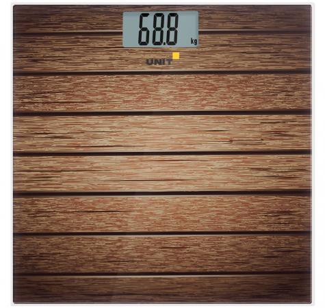 Весы напольные Unit UBS-2056 рисунок коричневый CE-0462770 unit ubs 2053 light gray весы напольные электронные