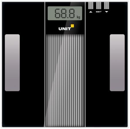 Весы напольные Unit UBS-2210 чёрный серый unit ubs 2200 pale grey весы напольные