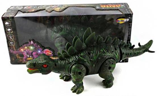 Интерактивная игрушка Shantou Gepai Dino Valley - Стегозавр от 3 лет зелёный NY008-A интерактивная игрушка shantou gepai телефон обучающий музыкальные инструменты от 3 лет жёлтый 820