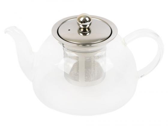 Чайник заварочный Teco TC-203 прозрачный 0.6 л стекло заварочный чайник 1 0 л teco tc 202