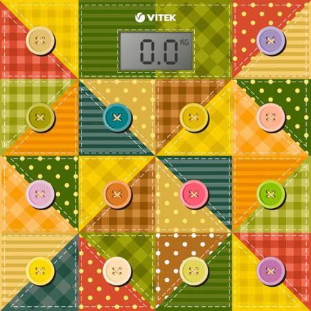 Весы напольные Vitek VT-1957(OG) разноцветный рисунок блендер vitek vt 1460 og