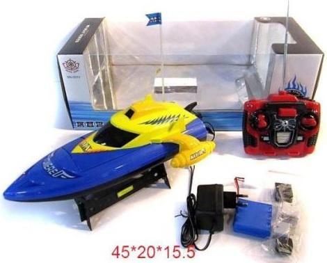 Катер на радиоуправлении Shantou Gepai 4 канала синий от 3 лет пластик катер на радиоуправлении shantou gepai heat красный от 6 лет пластик 4 канала 30м 5км ч 95679