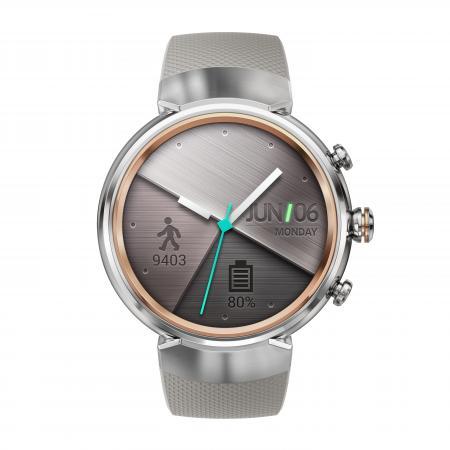 ASUS ZenWatch 3 (WI503Q) silicon asus zenwatch 3 wi503q leather strap dark brown