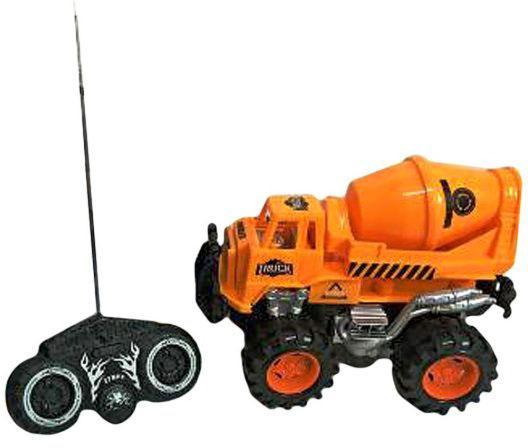 Бетономешалка на радиоуправлении Shantou Gepai Бетономешалка 635567 оранжевый от 3 лет пластик машинка на радиоуправлении shantou gepai auto world от 3 лет зелёный пластик 4 канала свет 1 12