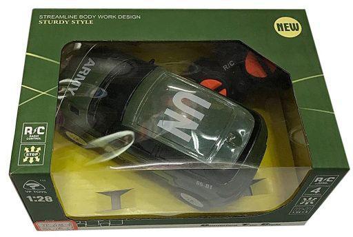 Машинка на радиоуправлении Shantou Gepai Военная 635559 зелёный от 3 лет пластик машинка на радиоуправлении shantou gepai auto world от 3 лет зелёный пластик 4 канала свет 1 12