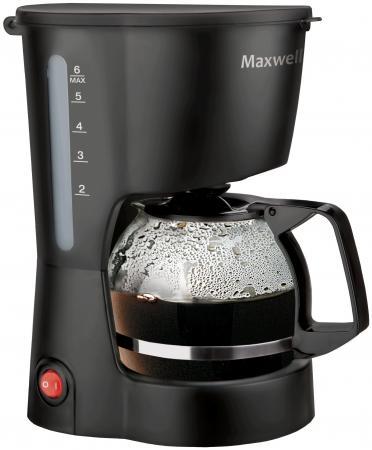 цена на Кофеварка Maxwell MW-1657(BK) 600 Вт черный