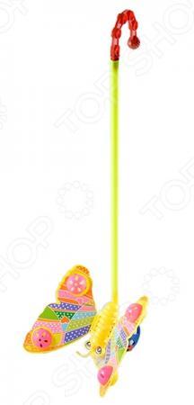 Каталка на палочке Shantou Gepai бабочка-погремушка пластик от 1 года желтый каталка shantou gepai морской конек zya a0347