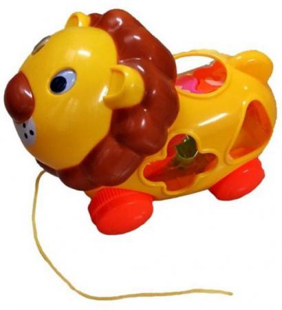 купить Каталка на шнурке Shantou Gepai Львенок-сортер пластик от 1.5 лет разноцветный 2325 по цене 285 рублей