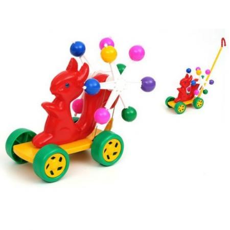 Каталка на палочке Suchanek Белочка пластик от 1 года на колесах цвет в ассортименте SHNK-018
