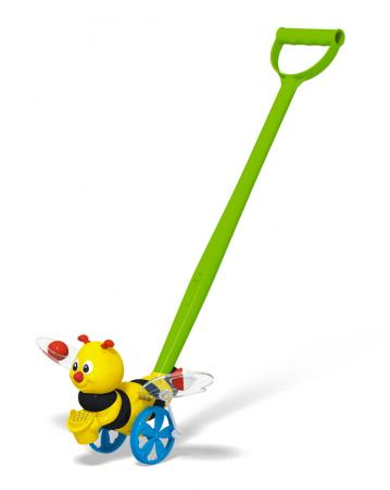 Каталка на палочке Стеллар Пчёлка пластик от 1 года на колесах разноцветный 1396 каталка на палочке karolina toys карусель разноцветный от 1 года пластик 40 0033