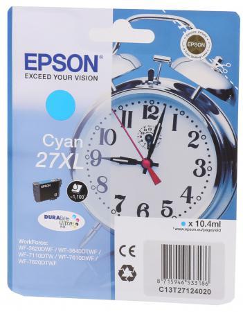 Фото - Картридж Epson C13T27024020 для Epson WF7110/7610/7620 голубой 350стр картридж epson c13t27024020 для epson wf7110 7610 7620 голубой 350стр